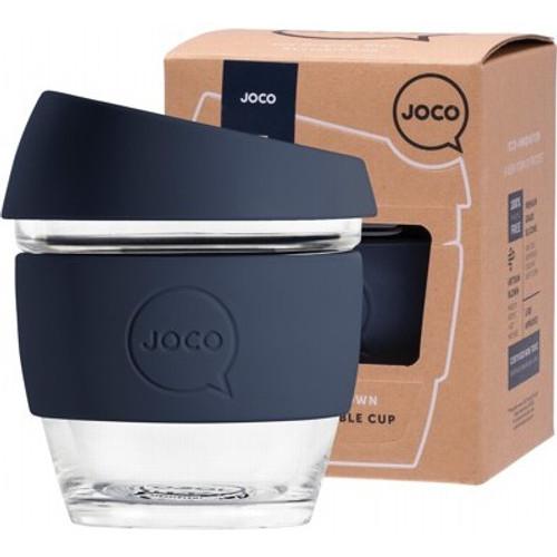 Coffee Cup Reusable Glass Mood Indigo (8oz) 236ml - Joco