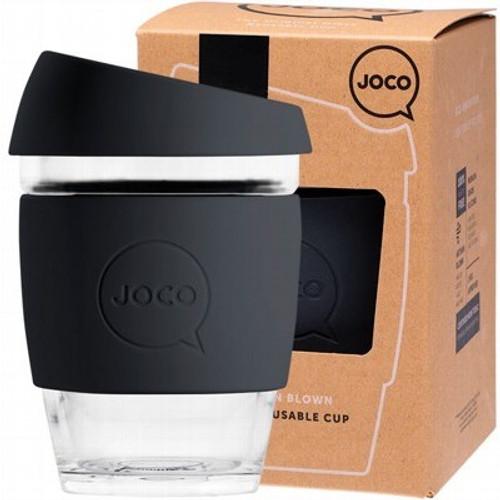 Coffee Cup Reusable Glass Black (12oz) 354ml - Joco