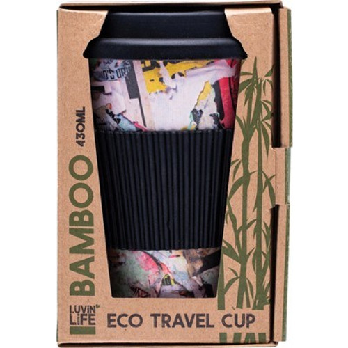 Bamboo Eco Travel Cup Art 430ml  - Luvin Life