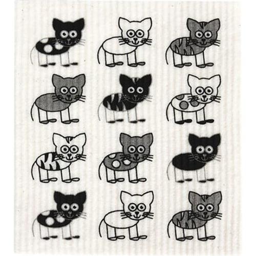Sponge Dishcloth 100% Biodegradable Cats - RetroKitchen