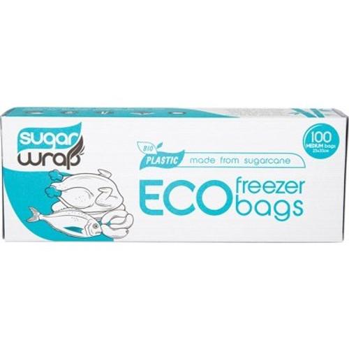 Eco Freezer Bags Made From Sugarcane Medium 100 - SugarWrap