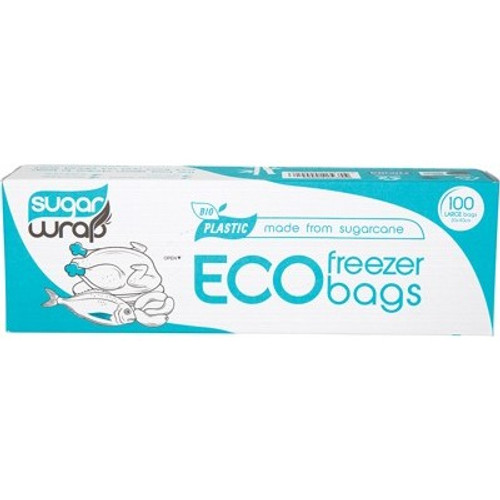 Eco Freezer Bags Made From Sugarcane Large 100 - SugarWrap