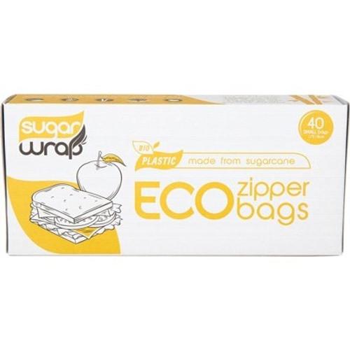 Eco Zipper Bags Made From Sugarcane Small 40 - SugarWrap