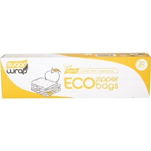 Eco Zipper Bags Made From Sugarcane Large 20 - SugarWrap