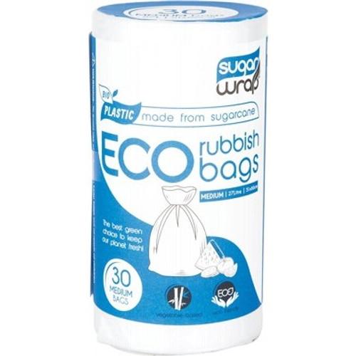 Eco Rubbish Bags Made From Sugarcane Medium 30 - SugarWrap