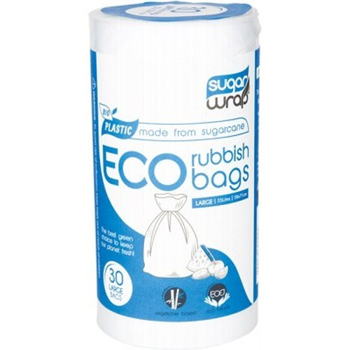 Eco Rubbish Bags Made From Sugarcane Large 30 - SugarWrap