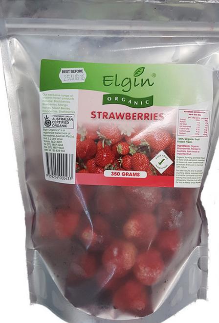 Strawberries Frozen Organic 350g - Elgin