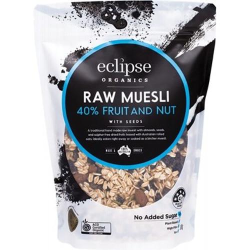 Muesli Raw 40% Fruit & Nut Organic 500g - Eclipse Organics