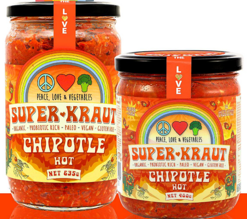 Superkraut Chipotle  Organic 635g - Peace Love & Veges