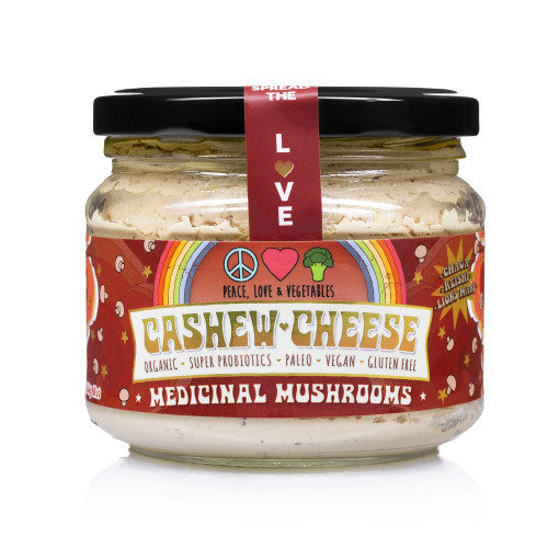 Cashew Cheese Medicinal Mushroom Organic 280g - Peace Love Veges