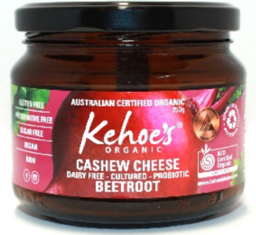 Cashew Cheese Beetroot Organic 250g - Kehoes Kitchen