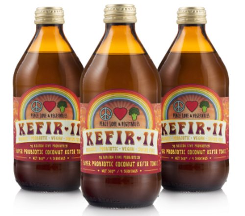 Kefir 11 Coconut Kefir Organic 375ml - Peace Love Veges
