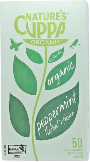 Peppermint Tea Organic 50 Bags - Nature's Cuppa
