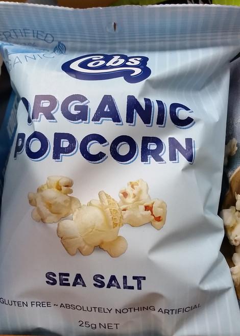 Popcorn Sea Salt Organic 25g - Cobs