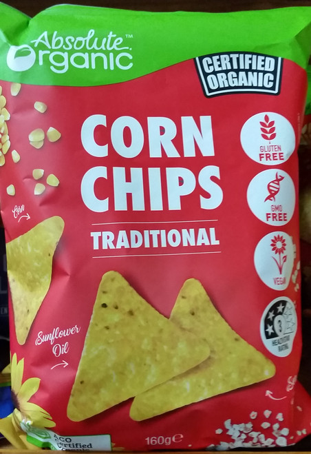 Corn Chips Traditional Organic 160g - Absolute Organic
