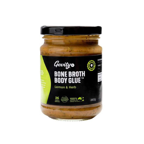 Bone Broth Body Glue Lemon & Herb 260g - Gevity Rx