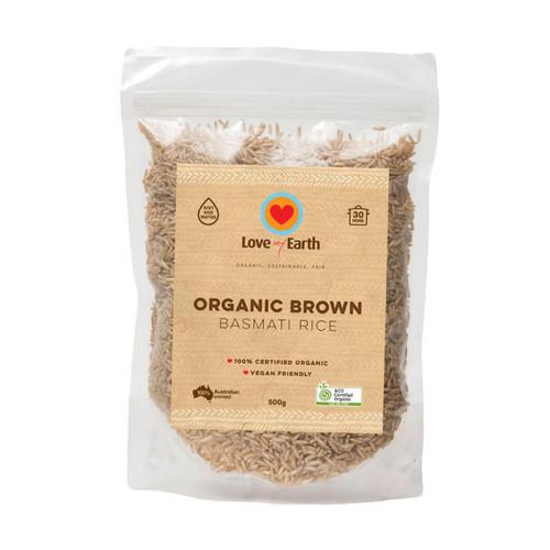Brown Basmati Rice Organic 500g - Love My Earth