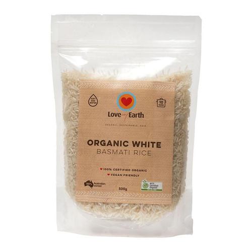 White Basmati Rice Organic 500g - Love My Earth