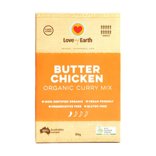 Butter Chicken Curry Mix Organic 50g - Love My Earth