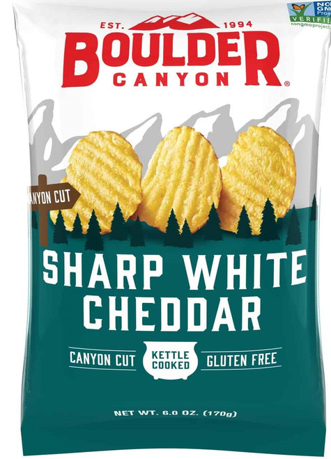 Potato Chips Sharp White Cheddar 170g - Boulder Canyon