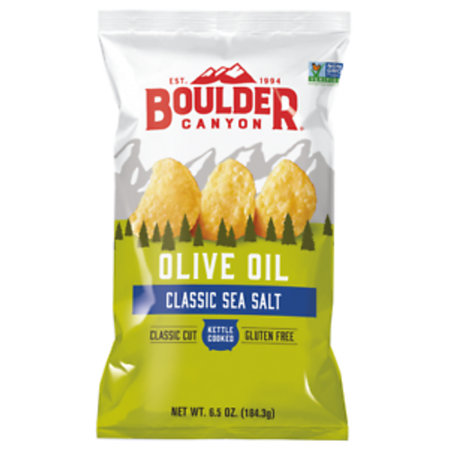 Potato Chips Sea Salt (Olive Oil) 142g  - Boulder Canyon