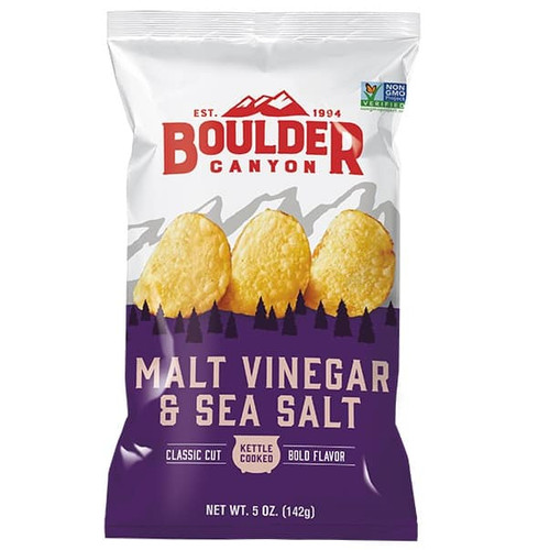 Potato Chips Malt Vinegar & Sea Salt  142g  - Boulder Canyon