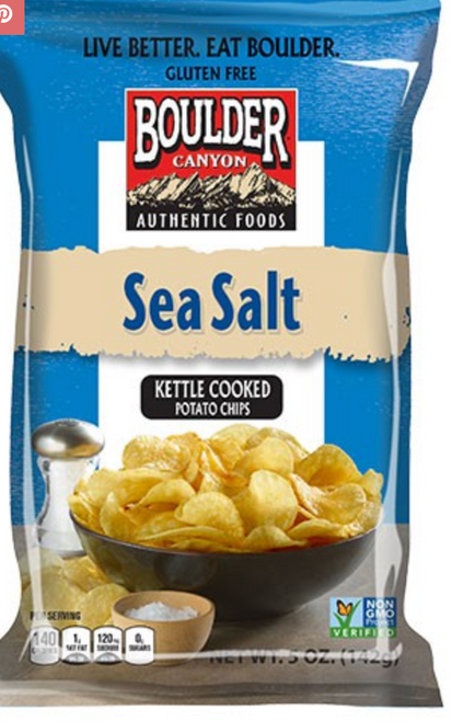 Potato Chips Sea Salt 142g - Boulder Canyon