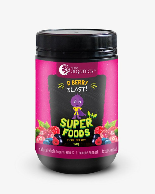 Superfood for Kids c Berry Blast Powder 100g - Nutra Organics