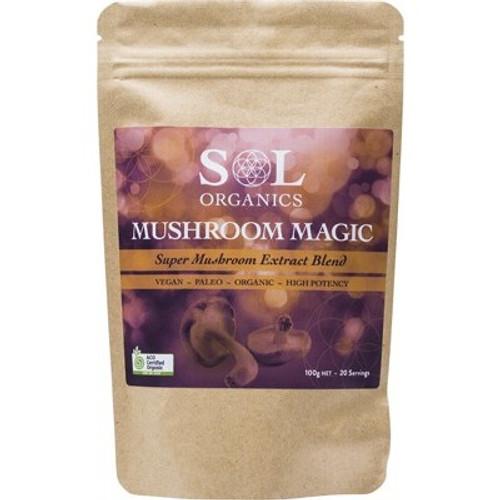 Mushroom Magic Super Mushroom Extract Blend Organic 100g - Sol Organics