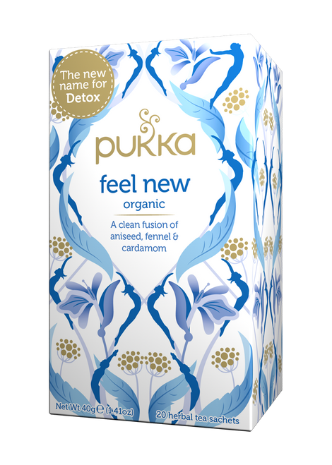 Feel New (formerly Detox) Organic Tea 20 Bags - Pukka