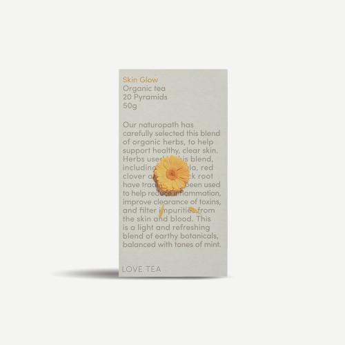 Skin Glow Tea 20 Pyramid Bags  Organic 40g - Love Tea