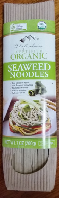 Seaweed Stick Noodles Organic 200g - Chef's Choice