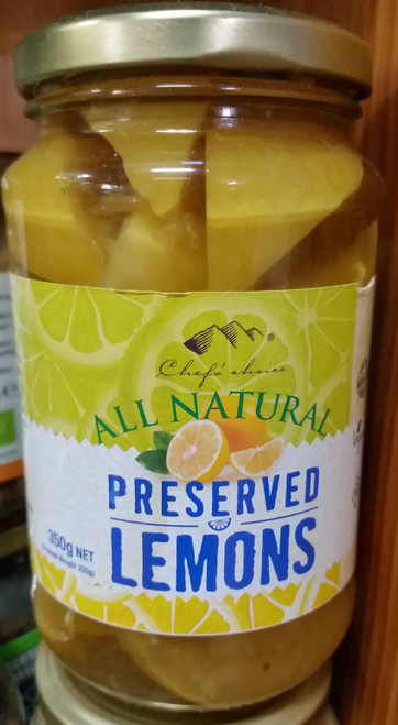 Preserved Lemons All Natural 350g - Chefs Choice