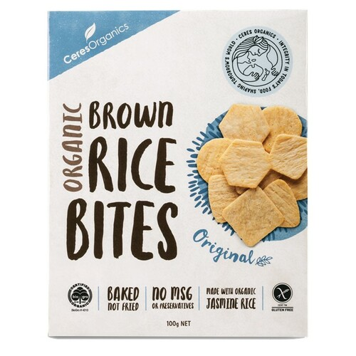 Brown Rice Bites Original Sea Salt Organic 100g - Ceres Organics