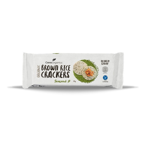 Brown Rice Crackers with Seaweed Organic 115g  - Ceres