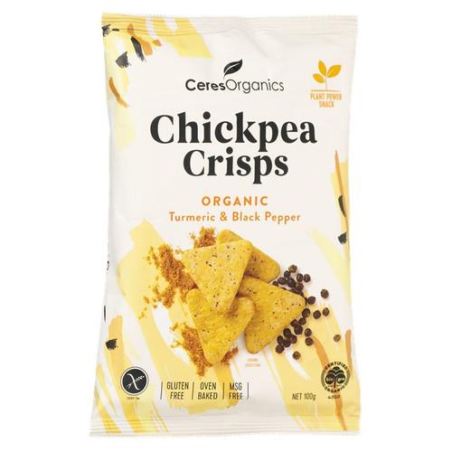 Chickpea Crisps Turmeric & Black Pepper Organic 100G - Ceres Organics