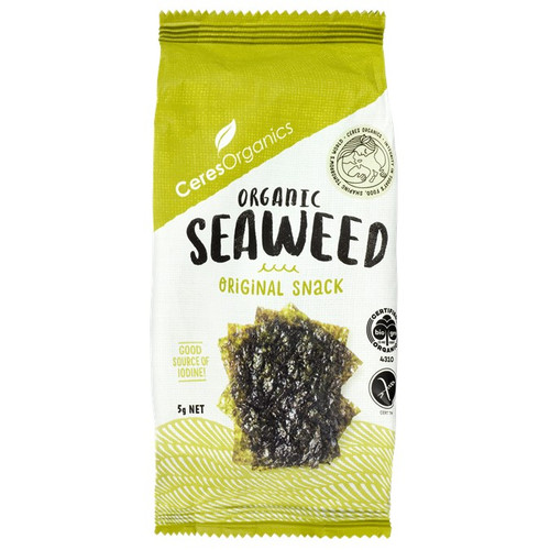 Seaweed Snack Roasted Organic 5g - Ceres