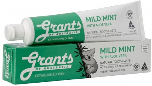 Toothpaste Mild Mint with Aloe vera 110g - Grants