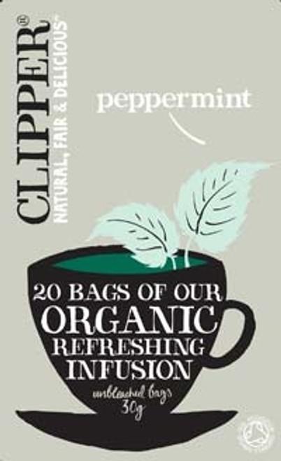 Peppermint Infusion Tea Organic 20 bags - Clipper