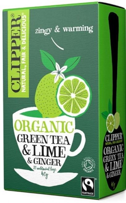 Green Tea, Lime & Ginger Tea Organic 20 bags - Clipper