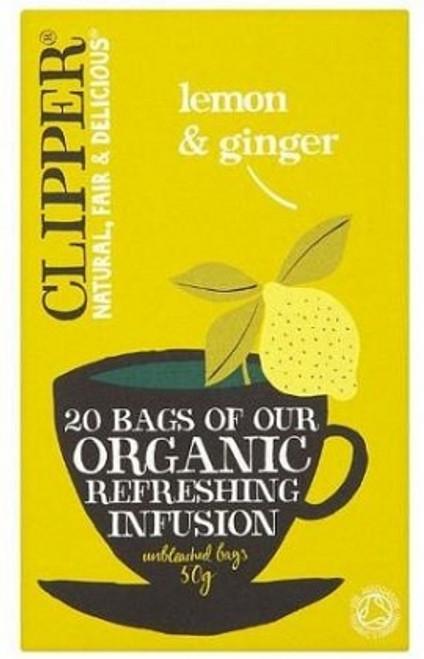 Refreshing Infusion Lemon & Ginger Tea Organic 20 bags - Clipper