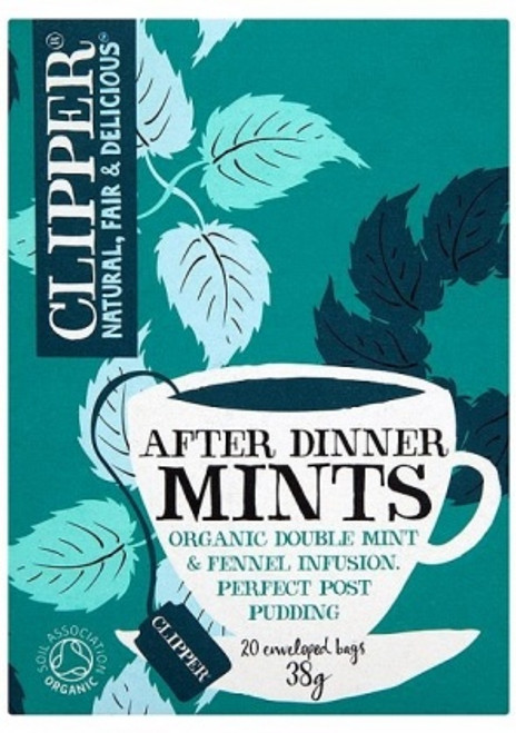 After Dinner Mints Double Mint & Fennel Infusion Tea Organic 20 bags - Clipper