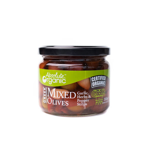 Olives Mixed with Herbs Organic 300g - Absolute Organic