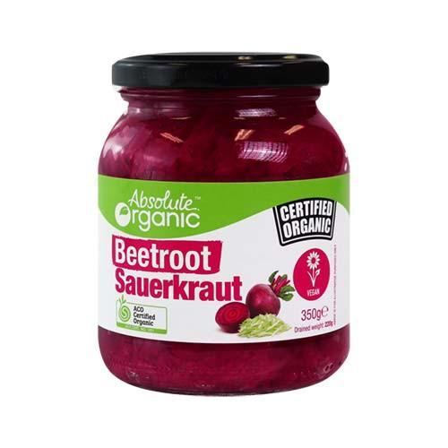 Sauerkraut Beetroot Organic 350g - Absolute Organic