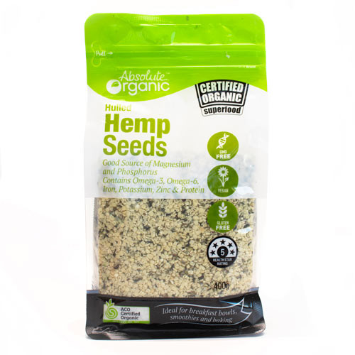 Hemp Seeds Hulled Organic 400g - Absolute Organic