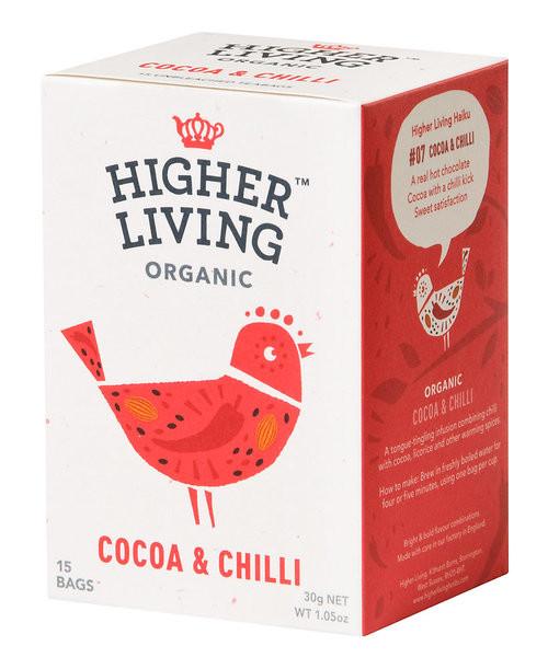 Cocoa & Chilli Tea Organic 15 Bags - Higher Living