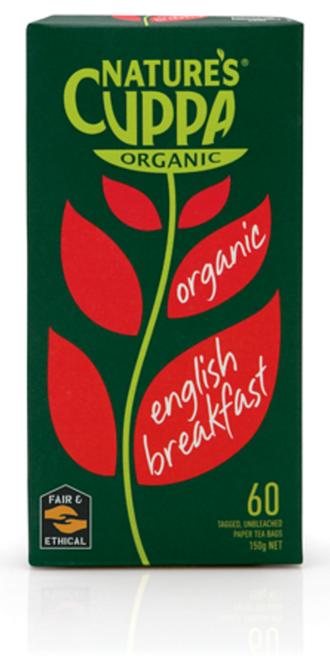 English Breakfast Tea Organic 60 bags - Nature's Cuppa