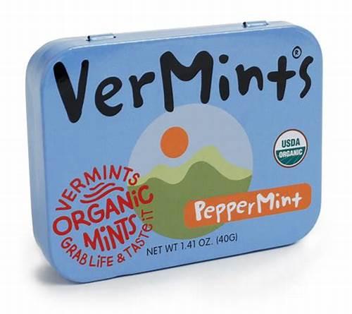 Mints Peppermint Organic 40g - Vermints