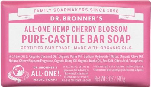 Soap Bar Castile Cherry Blossom 140g - Dr Bronners