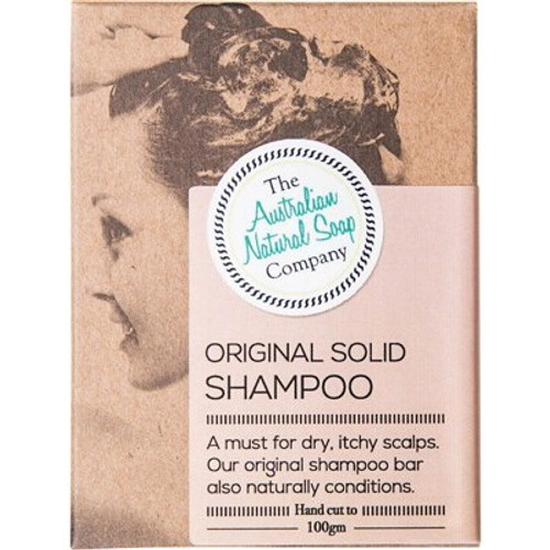 Original Solid Shampoo Bar 100g - The Australian Natural Soap Company